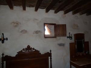 Schlafzimmer mit Lüftungsöffnung